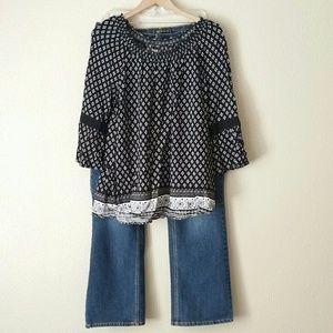 Cato Denim Jeans Blouse Lot Outfit